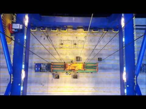 Container Crane panamax Operations ( video speed x2 )