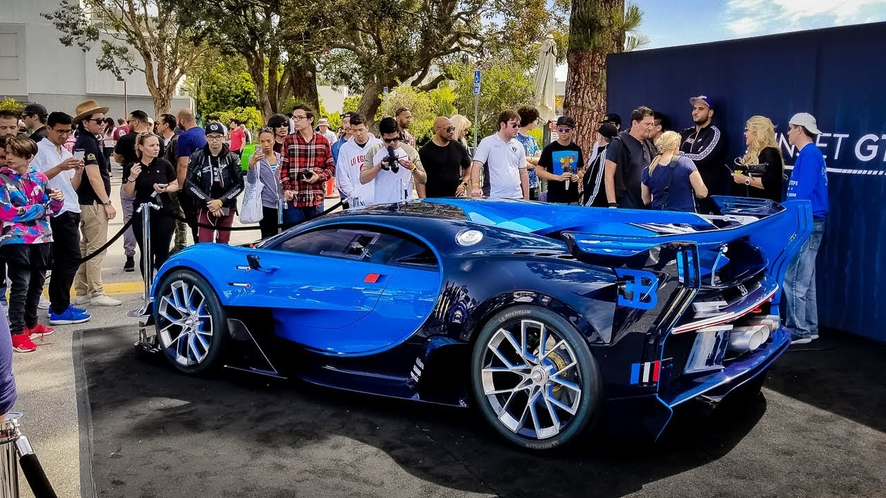 $8 Million Bugatti Vision GT Causes CHAOS (COPS GOT MAD) - YouTube