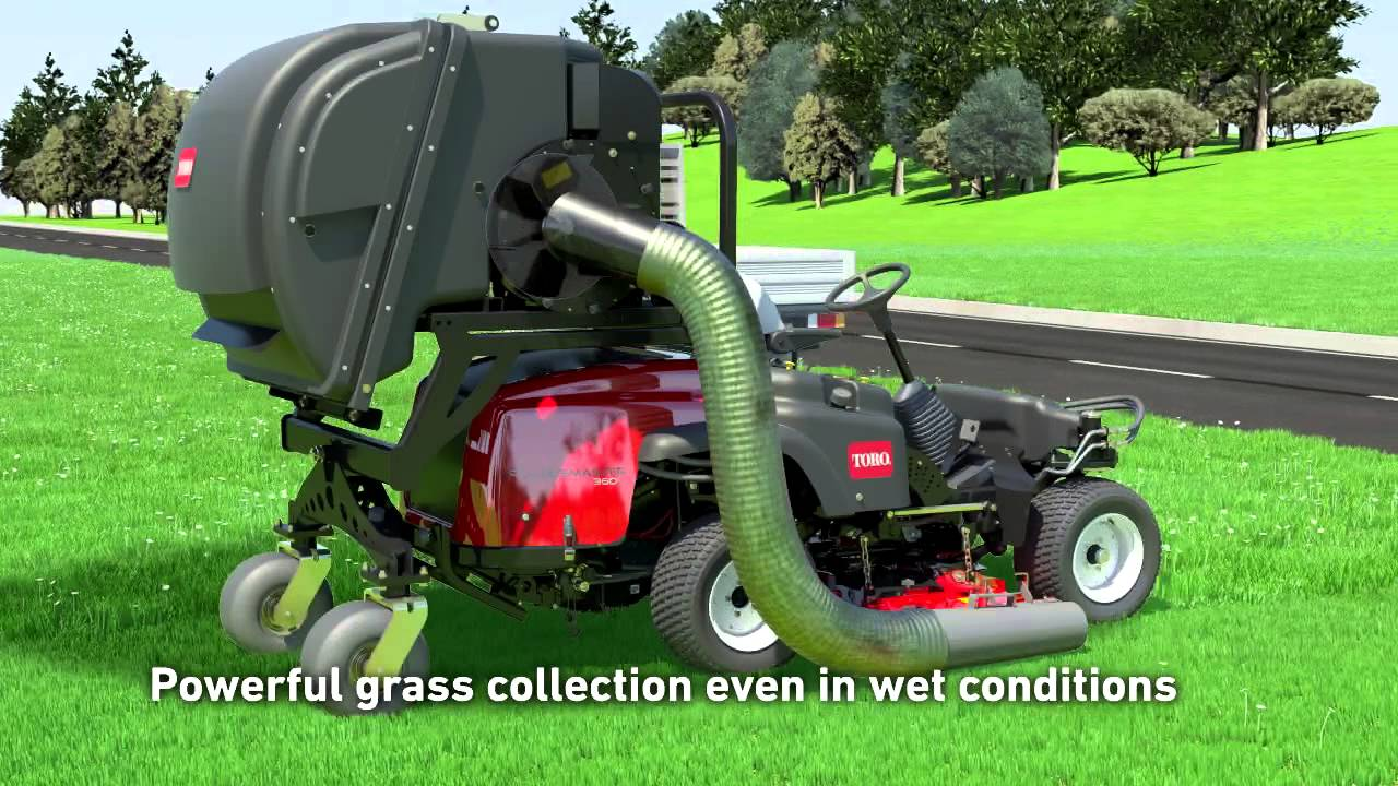 Toro Groundsmaster 174 360 High Lift Grass Collection System