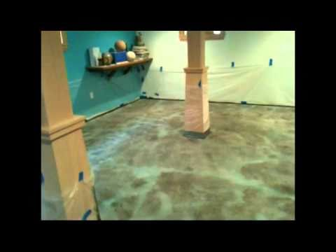 Acid Stain Concrete   How To Install A Concrete Acid Stained Floor