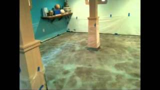 Acid Stain Concrete - How to install a concrete acid stained floor