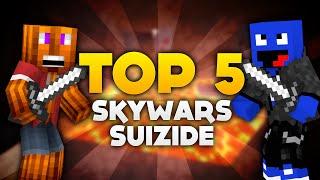 Minecraft - Top 5 SkyWars Suizide! | DieBuddiesZocken