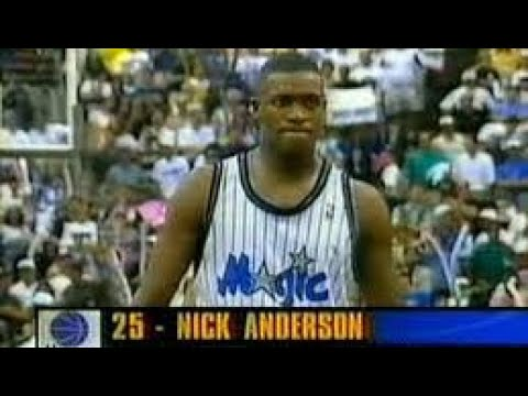 Orlando blow 3 pt lead and 4 FT attempts with 10 seconds left. Game 1 of 1995 NBA Finals