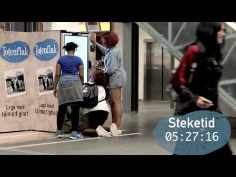 Totenflak digital vending på Oslo S