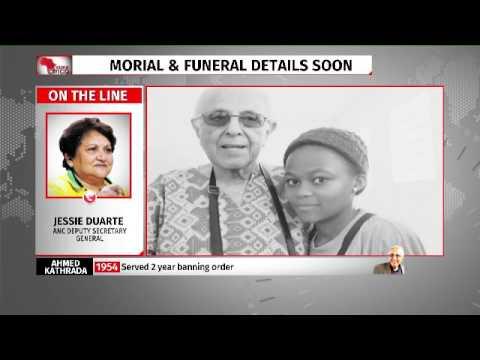 Jessie Duarte pays tribute to  Ahmed Kathrada