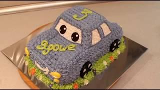 видео уроки как сделать торт машину