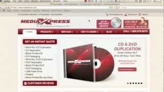 How to Order Custom DVDs and CDs Online