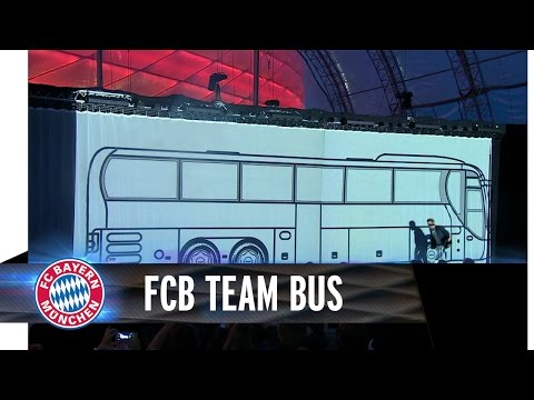 Bayern Munich have hilariously extravagant unveiling for new bus