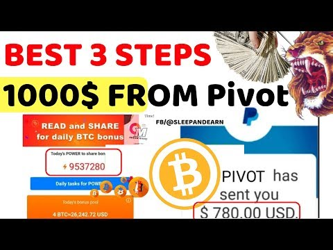 pivot app case study earn unlimited bitcoin | how to get More Power in pivot app by online money