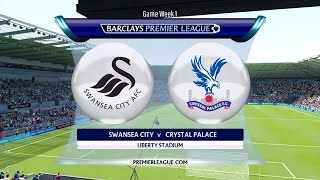 Video Gol Pertandingan Crystal Palace vs Swansea City