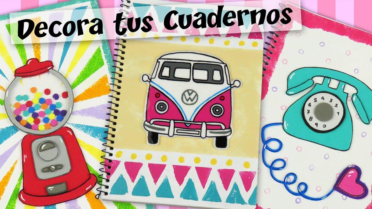 Ideas De Portadas Para Cuadernos Decorar Libretas Con: DECORA TUS CUADERNOS Con Estilo RETRO