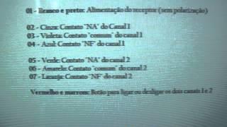 Como ligar Receptor Multifuncional ECP na fechadura elétrica