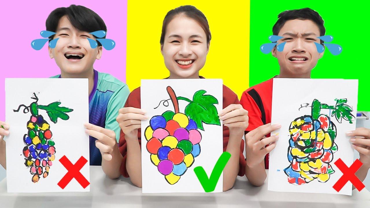Tantangan Menggambar Lucu Buah Anggur di Sekolah untuk Anak | Siapa Gambar Terbaik?