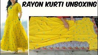 Online Designer Kurti Shopping | Designer Kurti | Designer Rayon Kurti Shopping