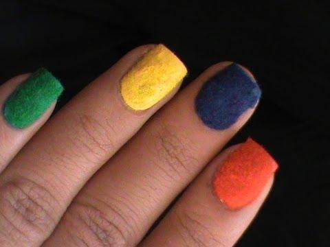 velvet nails flocking nail art