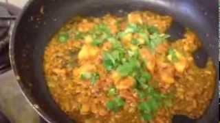 How to make fish curry.