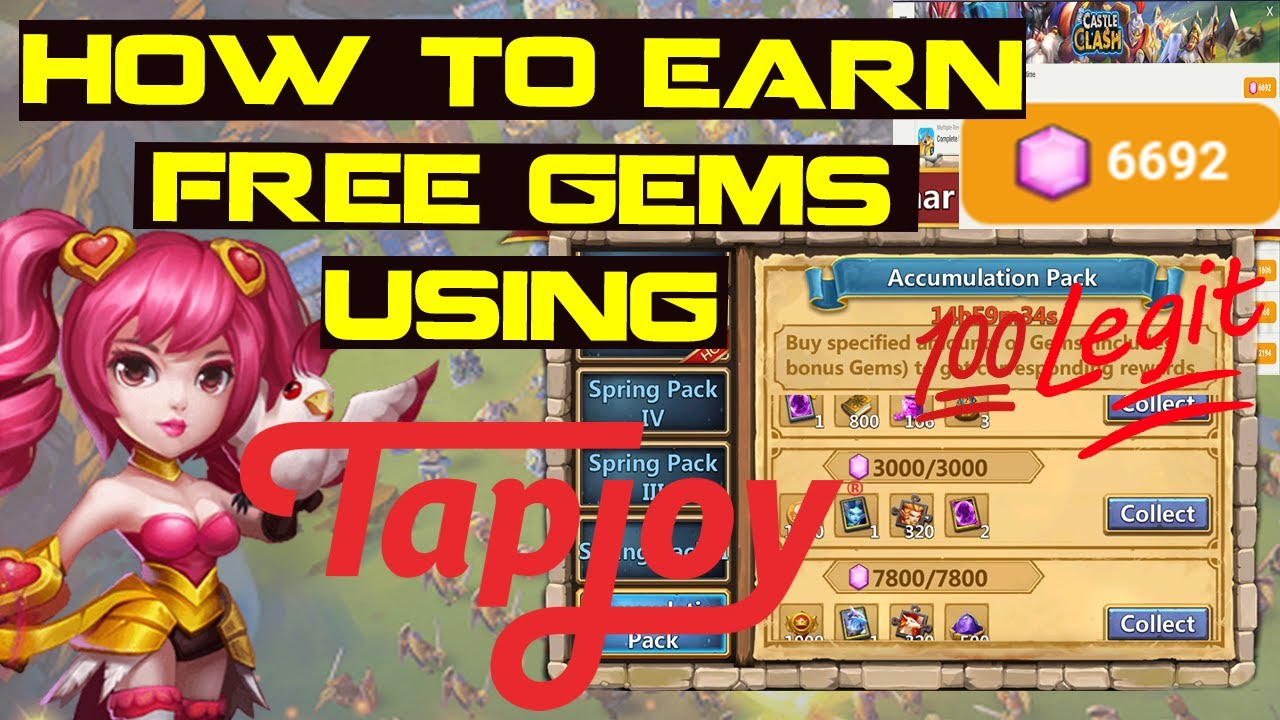 how to get free gems in castle clash