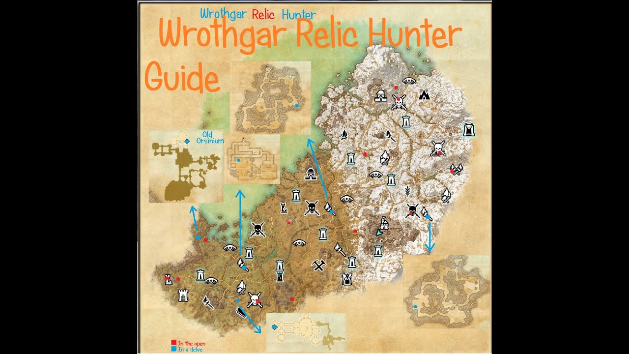 ESO - Wrothgar Relic Hunter guide - YouTube
