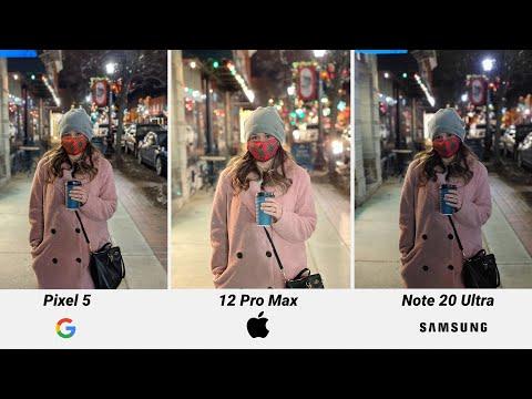 iPhone 12 Pro Max vs Google Pixel 5 vs Samsung Galaxy Note 20 Ultra Camera Comparison!