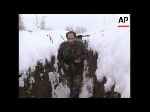 BOSNIA: FRONTLINE SOLDIERS REACTION TO PEACE DEAL AGREEMENT