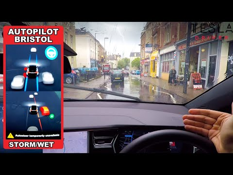 tesla-autopilot-in-a-uk-city-#2---will-it-self-drive-with-no-lines-in-a-wet-storm?!-(bristol)
