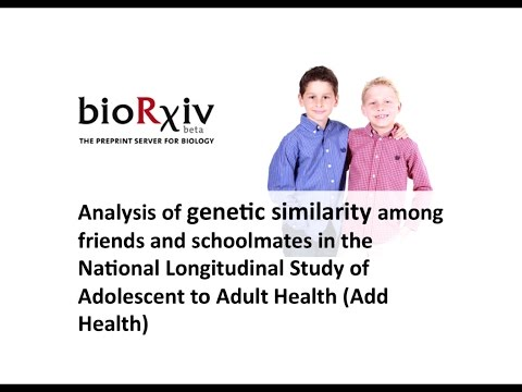 Genetic similarity among friends and schoolmates