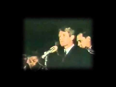 Robert Kennedy announces death on Martin Luther King-What a speech