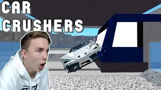 SMINGING CARS!! -Car Crusher #01 (Danish Roblox)