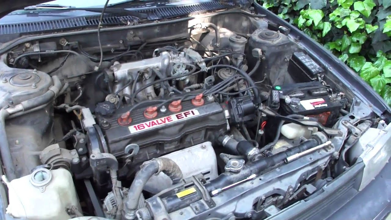 1992 Toyota Corolla Starting Issue - YouTube