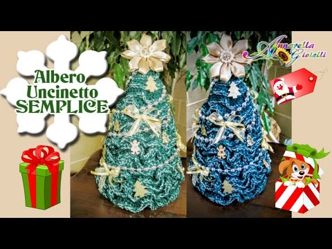 Facilissimo albero di natale all 39 uncinetto how to for Youtube decorazioni natalizie