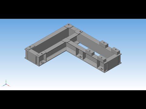 Рама сварная 3D - Библиотека Металлоконструкции 3D