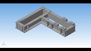 Рама сварная 3D - Библиотека Металлоконструкции 3D(Построение 3D модели сварной рамы при помощи библиотеки