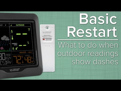 Basic Restart - What To Do When Outdoor Sensor Readings Show Dashes
