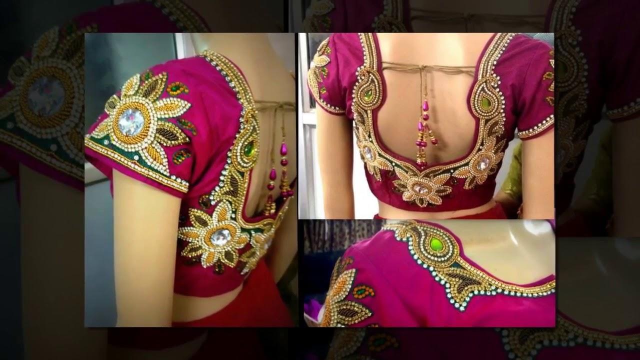 855eff54a0cfe6 Top 20 Wedding Blouse Design for silk Sarees│Bridal│wedding blouse design│embroidery  design