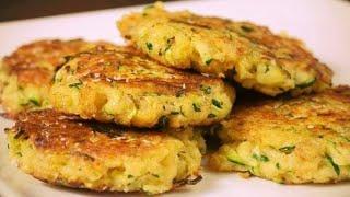 Оладьи из Кабачков с Грибами и Сыром