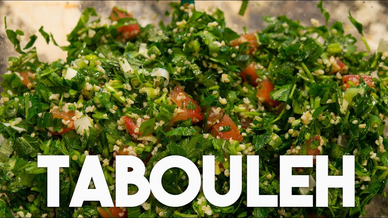 TABOULEH Parsley & Mint Salad - Quick, Easy & Healthy - YouTube