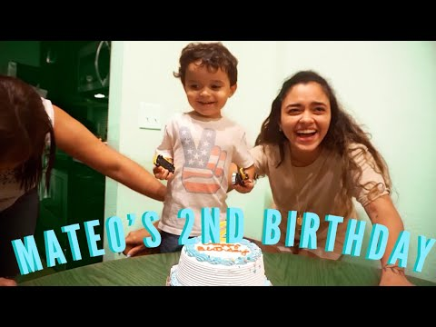 He kept blowing out his candle and it was hilarious | Mateo's 2nd Birthday!!