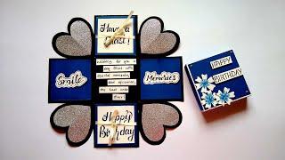 Special Explosion Box for Boyfriend | Handmade Birthday Explosion Box idea | Tutorial