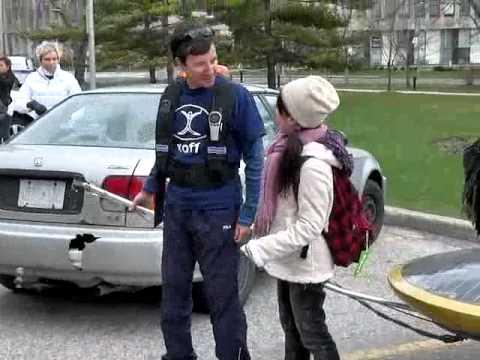 X of 1 Solar Car, at Queen's Park, Toronto, Ontario, Canada.  April 21, 2011.