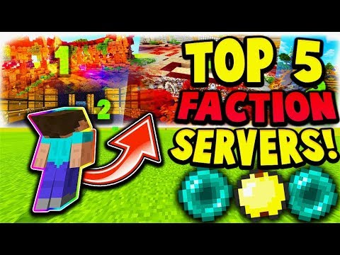 TOP 5 MCPE FACTION SERVERS! - Minecraft PE , Windows 10 Edition , Bedrock Edition (Pocket Edition)