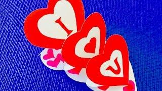 DIY crafts: 💚 Как сделать тройное сердце