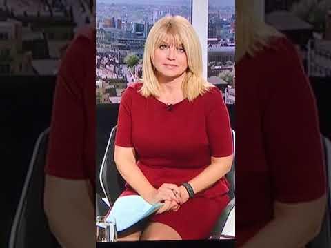 Christine Talbot sexy tight dress maroon