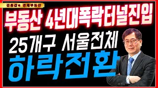 부동산 4년대폭락터널진입 서울전체 구 하락전환