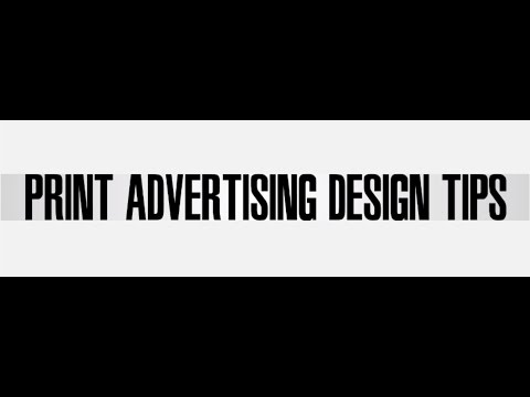 Useful Tips for Designing a Print Ad