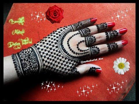 Beautiful Henna Mehndi Jewellery : How to apply easy simple beautiful glove henna mehndi designs for