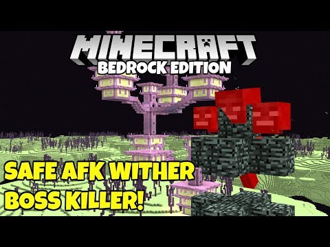 Minecraft Bedrock: Simplest Easiest Way To Kill The Wither Boss! Tutorial MCPE Xbox PC
