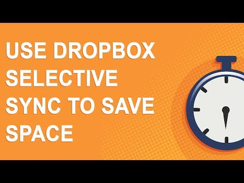 Use Dropbox Selective Sync to save space