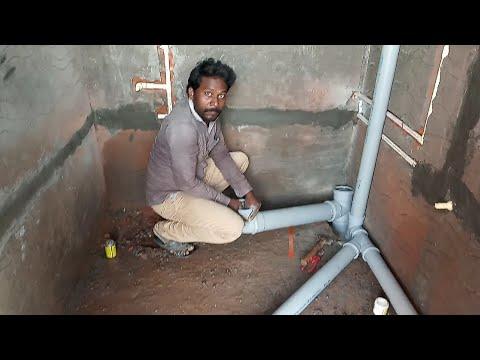 Bathroom Drainaga Line Plumbing Work Telugu