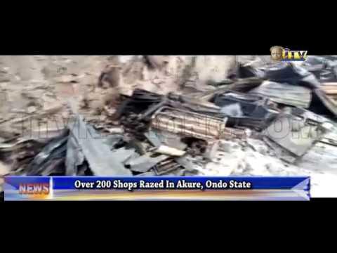 Over 200 shops razed in Akure