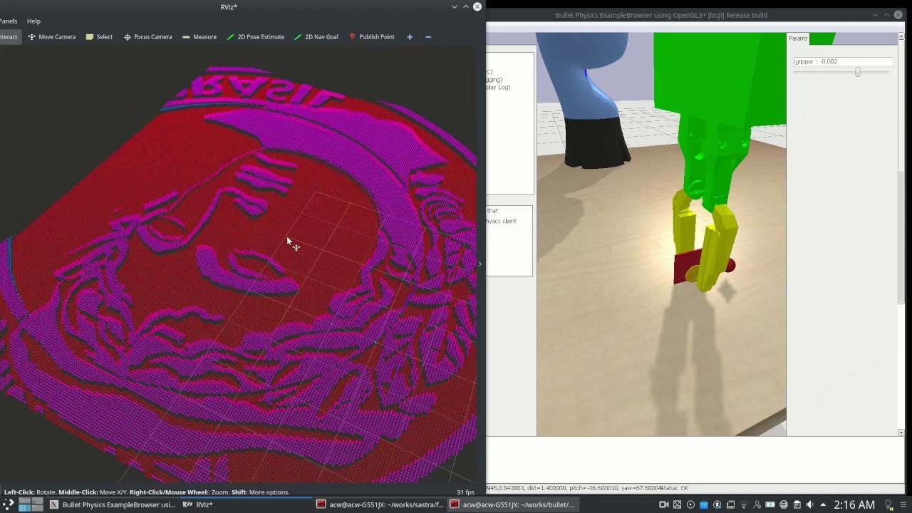 GelSight Simulation in pyBullet